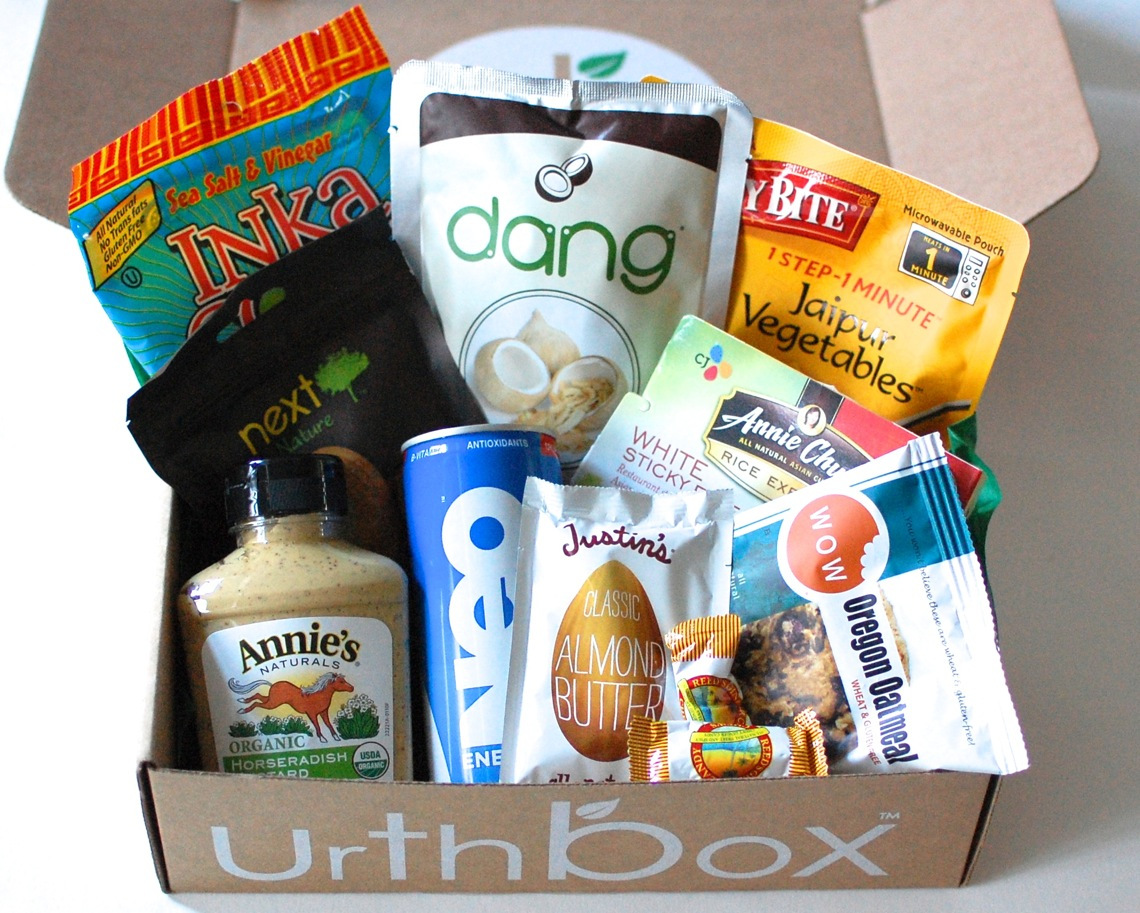 photo of the contents of an UrthBox delivery